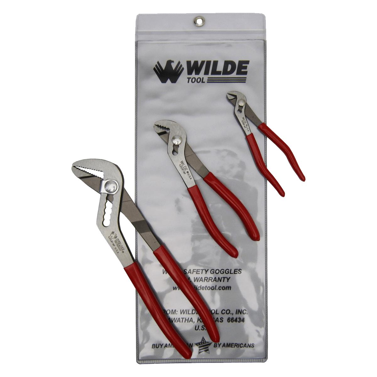 3 Piece Angle Nose Pliers Set G256PSP   Wilde Tool