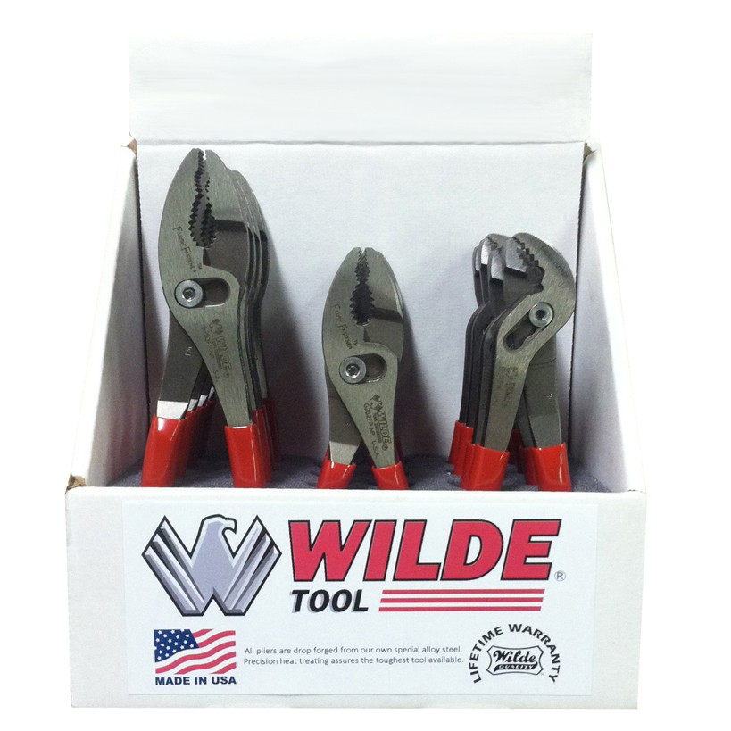9″ Straight Tip Lock Ring Pliers, Polished G407P | Wilde Tool